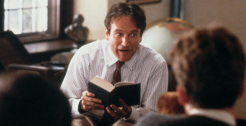 Robin Williams lendo